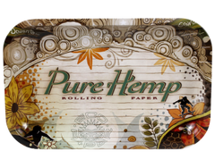 Medium Metal Rolling Tray- Pure Hemp