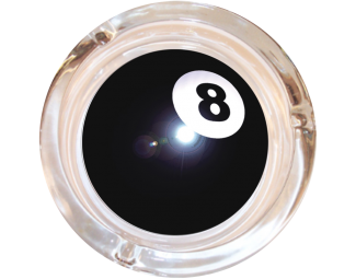 8 Ball Glass Ashtray