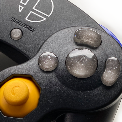 SILVER GAMECUBE CONTROLLER BUTTON SET