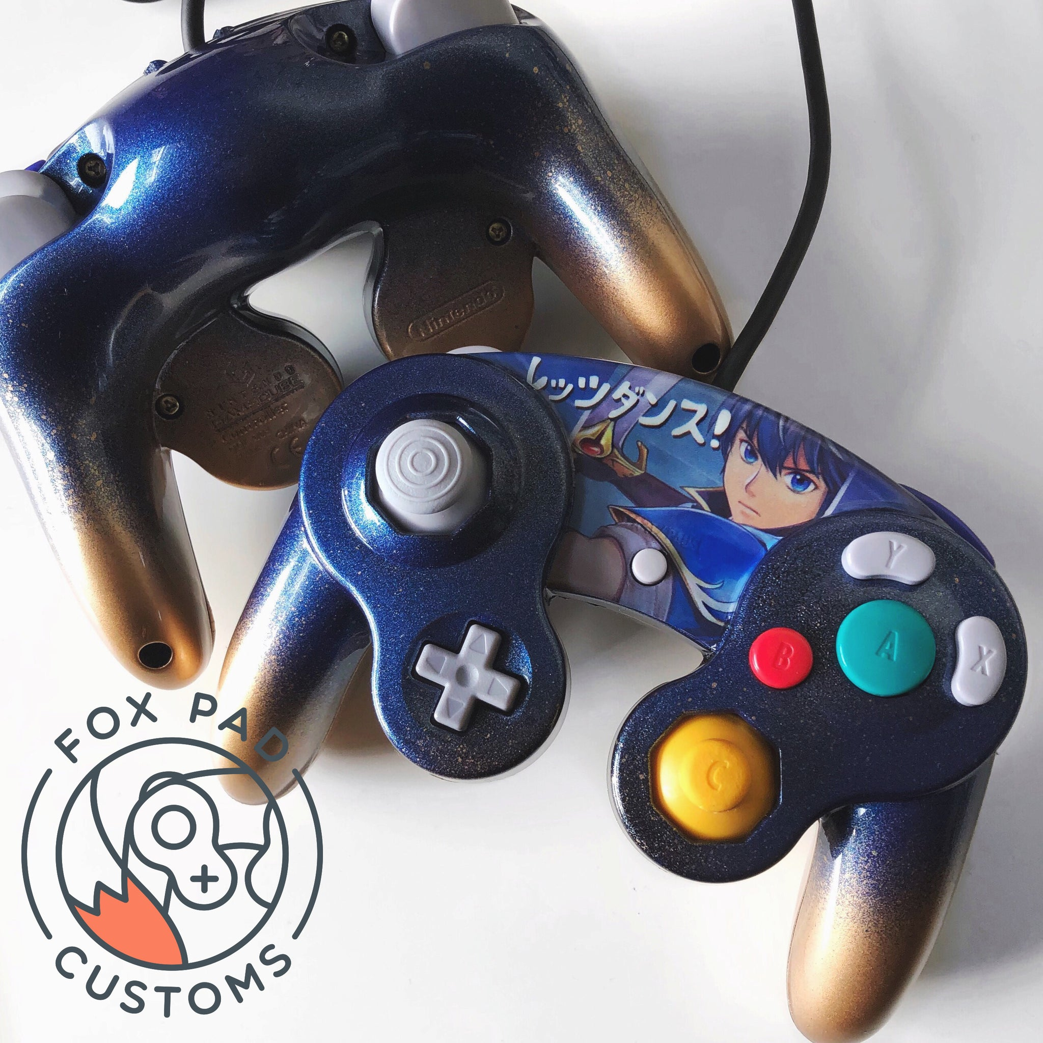 Marth Ver 2 Custom Controller Foxpad Customs Well there are tons of mods out there, for a custom gamecube controller, but in this video i. marth ver 2 custom controller