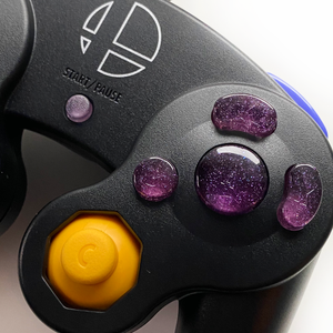 PURPLE GAMECUBE CONTROLLER BUTTON SET