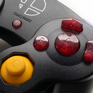 RED GAMECUBE CONTROLLER BUTTON SET