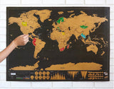 Scratch Off World Map Poster Travel Edition