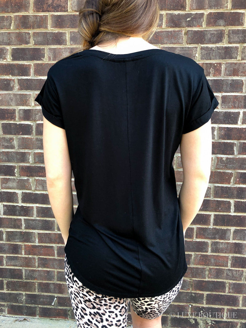 Essential Black Tee-Tee-Luxe Boutique