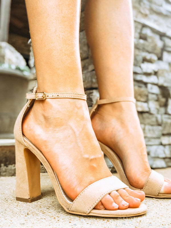 Maggie's Ankle Strap Heel-Shoes-Luxe Boutique