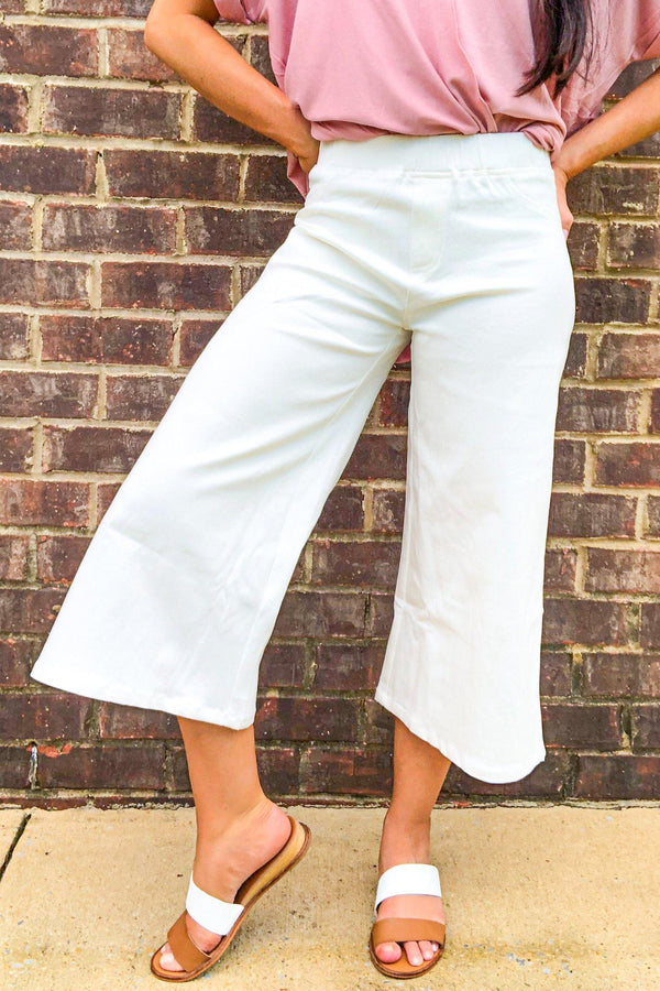 Sunny Days Wide Leg Capri Pants-Pants-Luxe Boutique