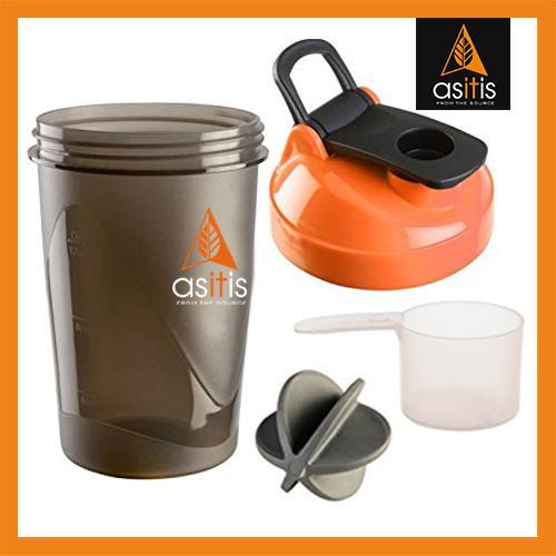 AS-IT-IS Protein Shaker Bottle with Scoop (30g) & Mixer Ball - As-It-Is Nutrition