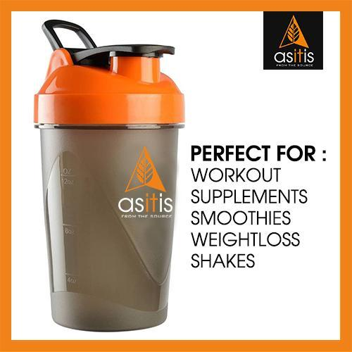 AS-IT-IS Protein Shaker Bottle with Scoop (30g) & Mixer Ball