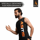AS-IT-IS Sleeveless Performance/Sports Cotton T-Shirt