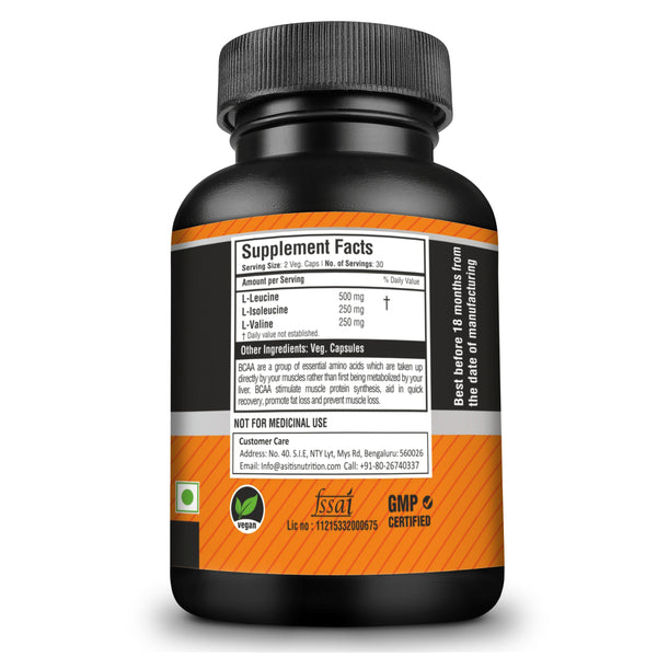 supplement facts of bcaa capsules