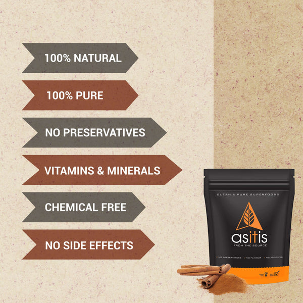 AS-IT-IS Cinnamon Powder - 250g | 100% Pure & Natural | Promotes Immunity | Healthy Digestion | Antioxidant