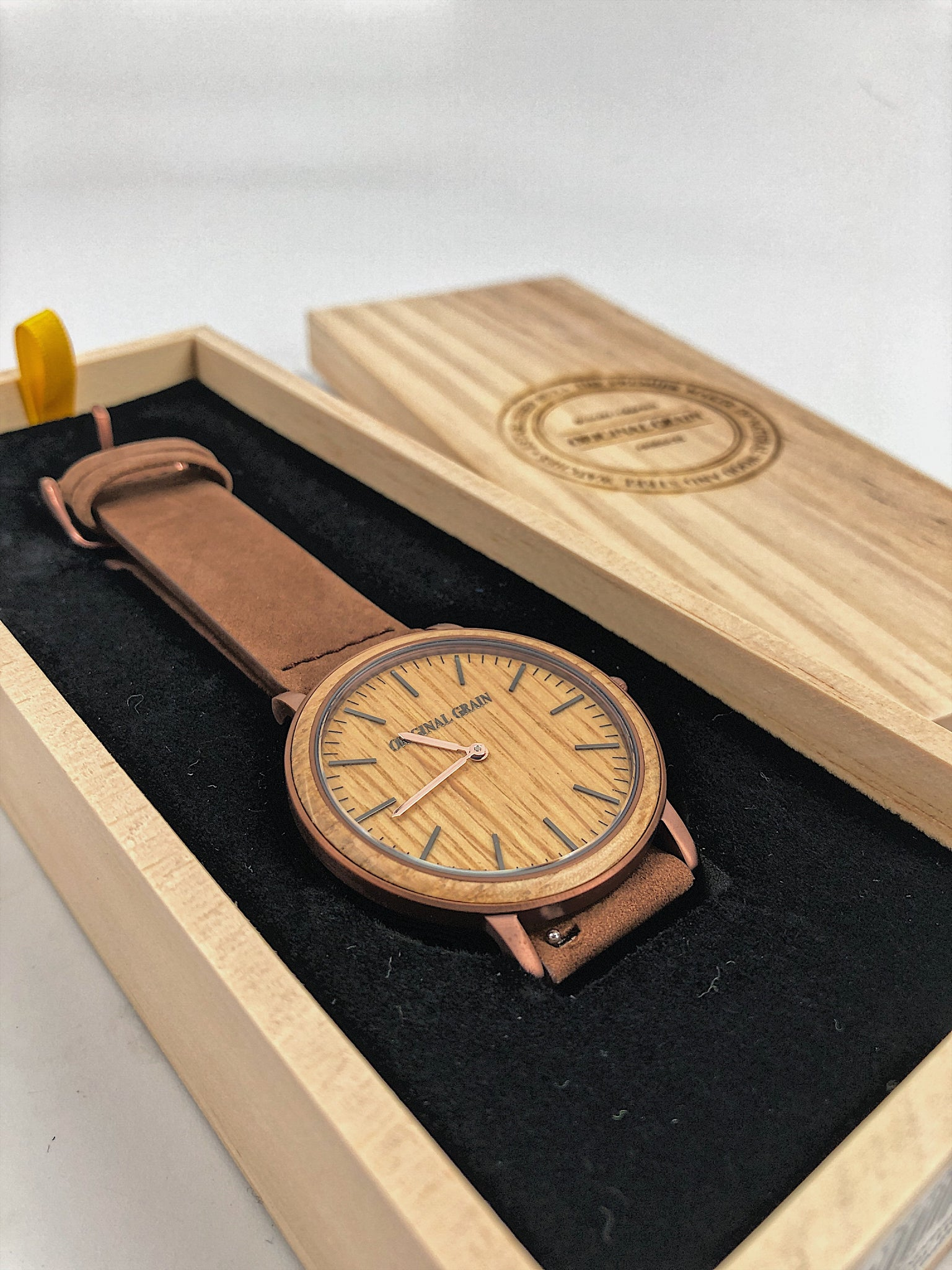 Whiskey Espresso Minimalist Watch 40mm
