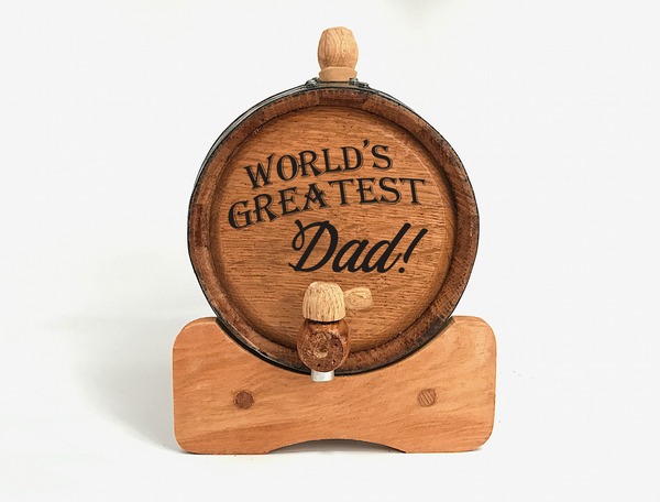 World's Greatest Dad Mini Barrel