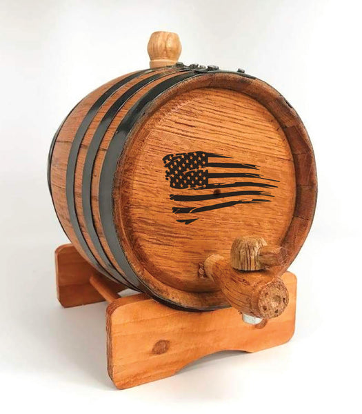 American Flag Mini Barrel