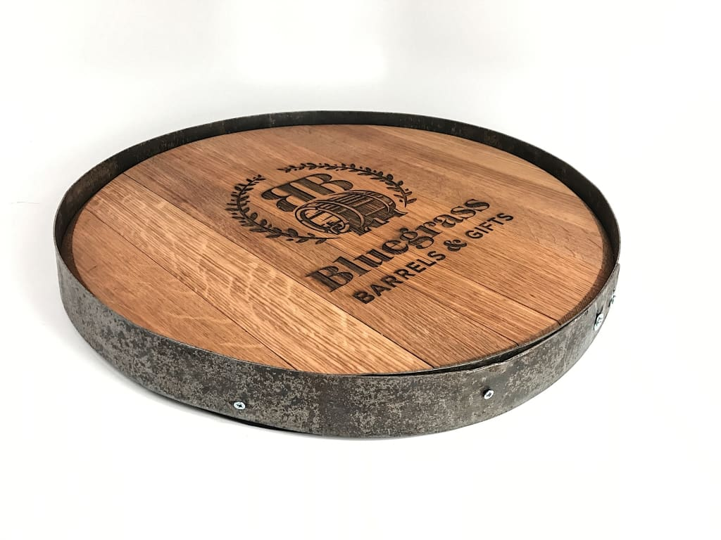 Authentic Oak Barrel Head W/ Hoop Barrel Heads