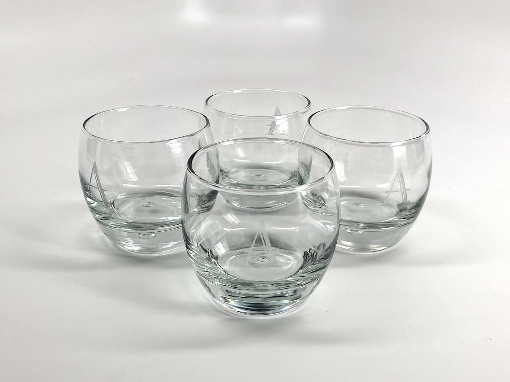 Personalized Rocks Glasses - Set Of 4 Glassware