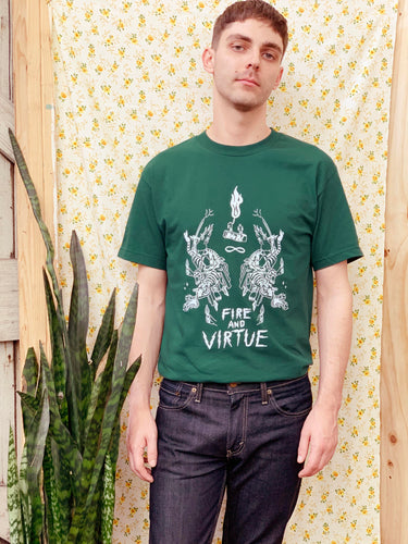 FIRE AND VIRTUE TEE  | UNISEX