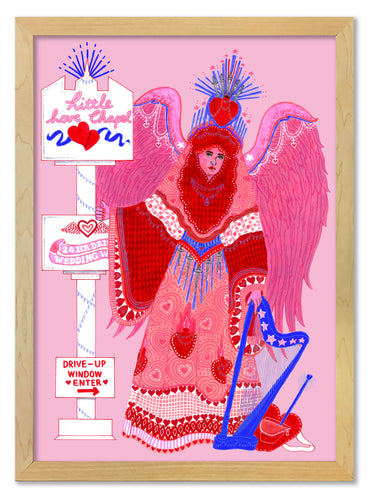 Vegas Love Angel Limited Edition Print