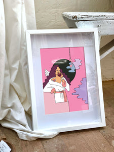 Wine Angel Limited Edition Print