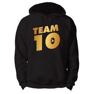 Team 10 Hoodie hooded sweatshirt Paul Jake Logan Online Youtuber In Gold