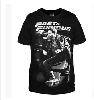 2017 Casual summer men's fashion The fast and the furious 7 3D t-shirt