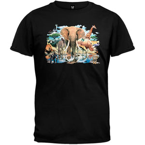 Animal World Mens African Oasis T-Shirt fashion short sleeved T shirt for men Summer funny tee shirt