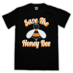 SAVE THE HONEY BEE PROTEST SLOGAN ANIMAL RIGHT MENS PRINTED T SHIRT TEE ALL SIZES