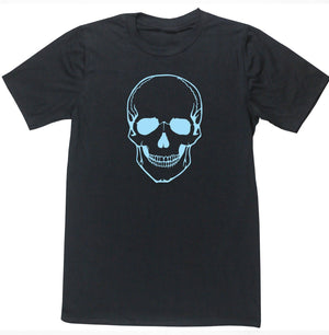 Blue skull men's fashion T-shirt edgy stylish hipster cool funky metal