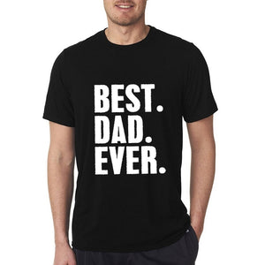 12 Colors BEST DAD EVER Short Sleeve Cotton Wild GAMING INTERESTING POPULAR High Quality Tops Tee Boutique T-shirt Cartoon Letter Summer Printing New Round Neck Casual CLOTHING funny Men Shirt vespa