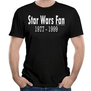 2017 Fashion Brand Cotton Male Slim Fit T 'Star Wars Fan' Vector Graphic White Text Printed Man T-shirts High Quality Tops Tee Boutique Cartoon Letter Summer Printing New Round Neck Casual Clothing funny Men Shirt vespa