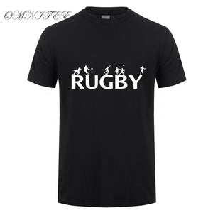 Fashion Rugby Men T Shirt Summer Style Short Sleeve Cotton T-shirt High Quality Men Clothings