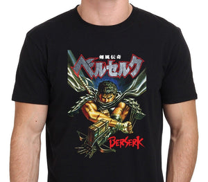 Fashion Printing Cotton Men's T-shirt BERSERK GUTS Japan Anime Manga T-Shirt Mens Funny Tshirts