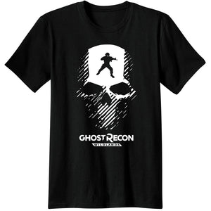 GHOST RECON WILDLANDS CALL OF DUTY Gaming T Shirts video game LOGO Skulls Casual Apparel Fashion COOL Men Tees T-Shirts classic