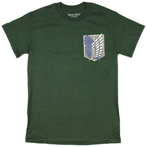 2NANA Japan Anime Attack on Titan Survey Corps Adult T-Shirt Gildan