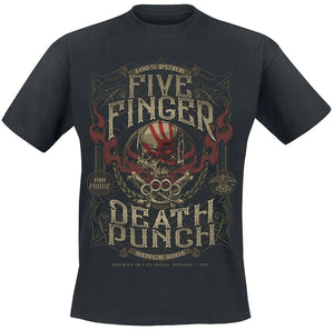 Five Finger Death Punch Punchagram 100 Proof Mens T-Shirt Black