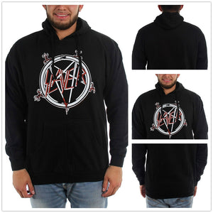 Slayer - Mens Pentagram Hoodie hooded sweatshirt