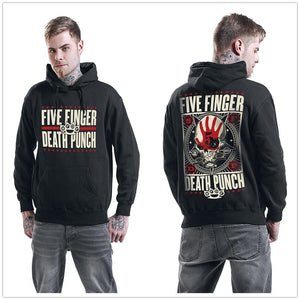 Five Finger Death Punch Punchagram Hooded Hoodies Sweatshirt Black