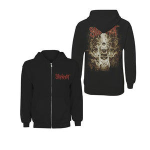 Slipknot Mens Hoodie Black Skull Teeth Licensed Zipped