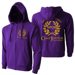 Camp Half Blood Branch Camp Jupiter SPQR SciFi Percy Jackson Hoodie Sweatshirt | SPQR Zip-up Gildan Unisex Hooded Hoodie