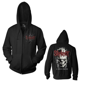 Slipknot - Skull Back Zip-up Unisex Hooded Hoodie Sweatshirt