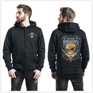 Five Finger Death Punch Trouble Hooded Zip-up Unisex Hooded Hoodie Black