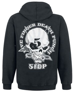 Five Finger Death Punch Mens Knuckles Zipped  Zip-up Gildan Unisex Hooded Hoodie Black