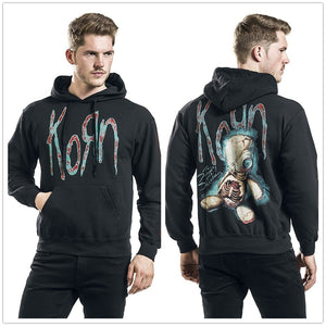 Korn New Doll Pullover Hooded Hoodie Sweatshirt Black