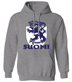 Suomi Finnish Coat Of Arms Royal Lion Shield Finland Mens Hoodie Sweatshirt