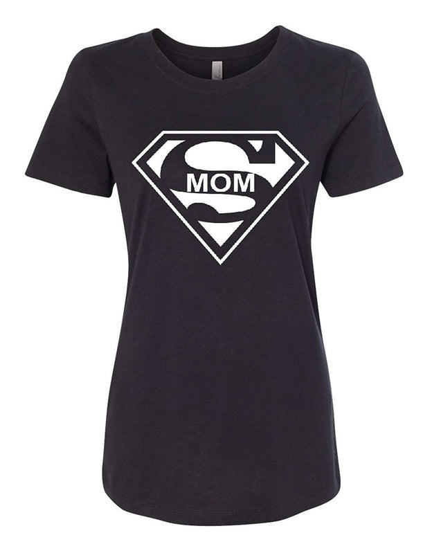 Super Mom Funny Women's T-Shirt Superhero Parody Mother's Day Tee