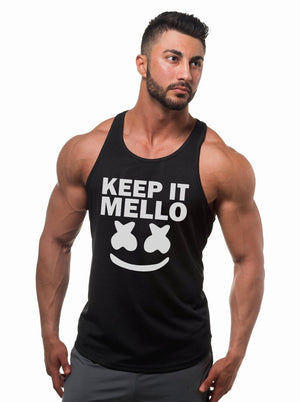 Men's marshmello keep it mello Half Sleeve Raglan Tank Top