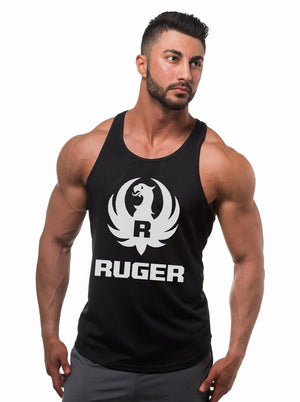 Ruger White Logo Mens Tank Top