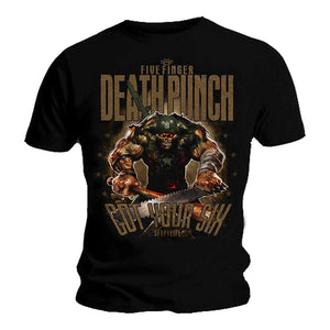 Five Finger Death Punch Official T Shirt SGT Major Album Cover