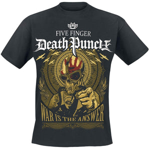 Five Finger Death Punch War Is The Answer T-Shirt black