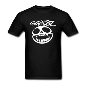 Men's Fashion Gorillaz DIY Cotton Short Sleeve T Shirt